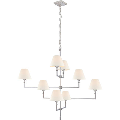 Alexa Hampton Jane 8 Light 48 inch Polished Nickel Offset Chandelier Ceiling Light, Large