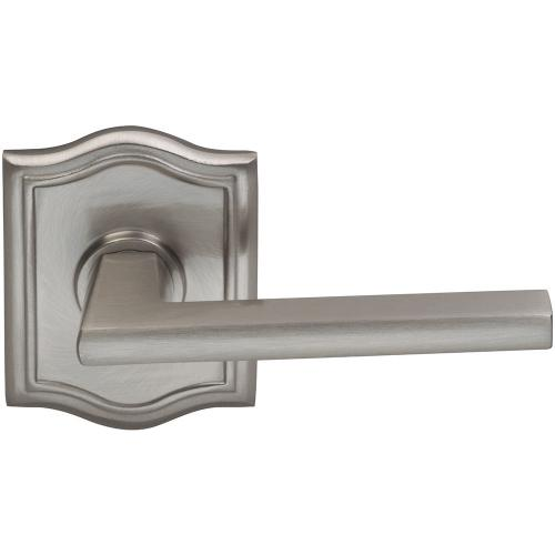 Product Image - Interior Modern Lever Latchset with Arched Rose in (US15 Satin Nickel Plated, Lacquered)