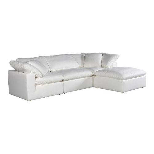 Moe's Home Collection - Clay Lounge Modular Sectional Livesmart Fabric White