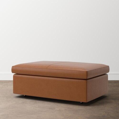 Melina Leather Storage Ottoman