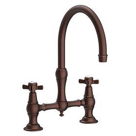 Oil Rubbed Bronze - Hand Relieved Kitchen Bridge Faucet
