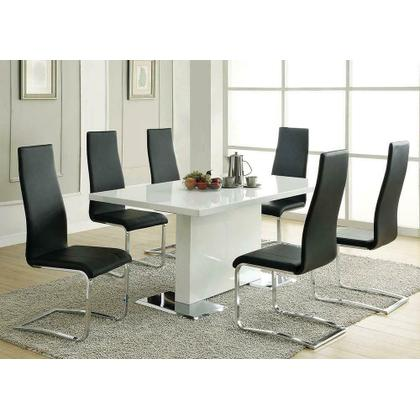 See Details - Nameth Contemporary White Dining Table