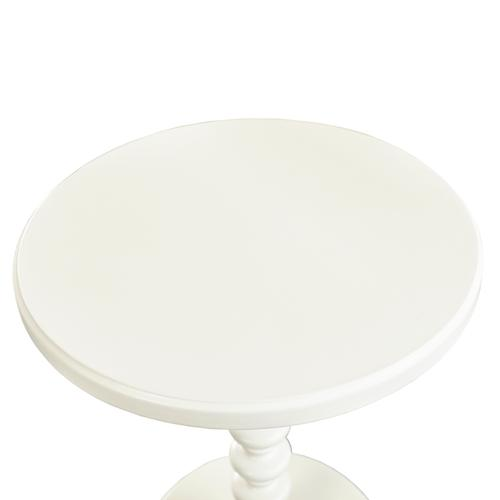 Powell Company - White Round Spindle Table