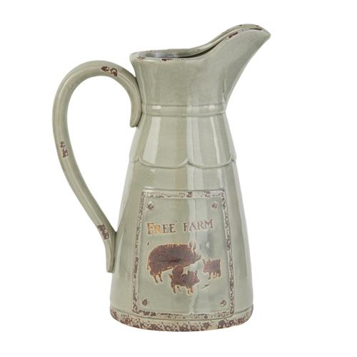 "CER PITCHER 10""W, 13""H"
