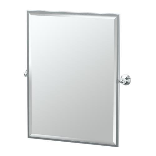 Charlotte Framed Rectangle Mirror in Chrome