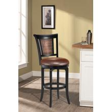 Cecily Wood Swivel Counter Height Stool, Black