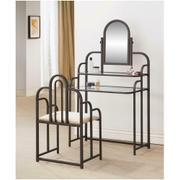 Contemporary Beige and Metal Vanity Product Image