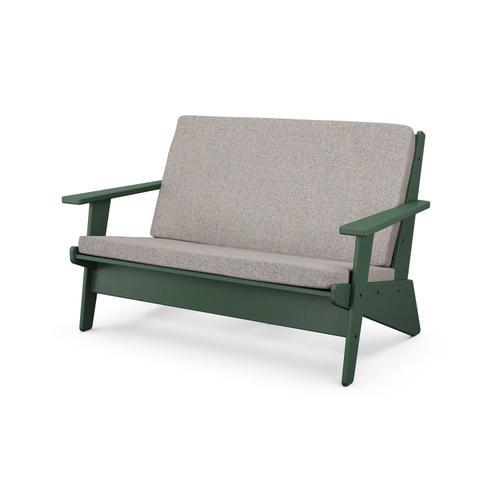 Green & Weathered Tweed Riviera Modern Lounge Settee