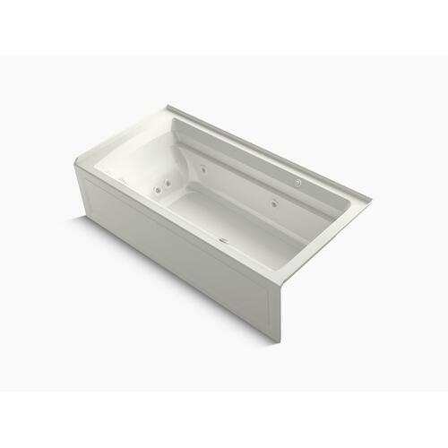 """Dune 72"""" X 36"""" Integral Apron Whirlpool + Heated Bubblemassage Air Bath With Right-hand Drain"""