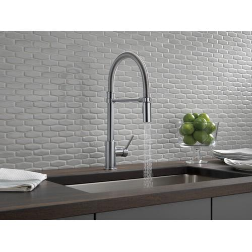 Arctic Stainless Single Handle Pull-Down Kitchen Faucet With Spring Spout