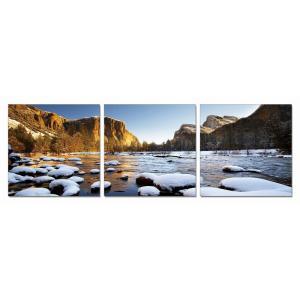 Gallery - Modrest Yosemite 3-Panel Photo On Canvas