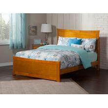 Metro Queen Bed with Matching Foot Board in Caramel Latte