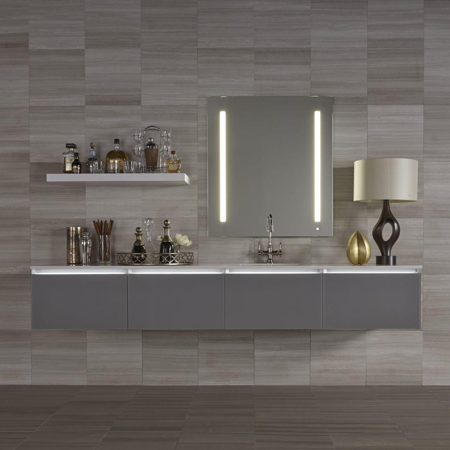 """Additional Aio 23-1/8"""" X 29-7/8"""" X 1-1/2"""" Lighted Mirror With Lum Lighting At 2700 Kelvin Temperature (warm Light), Dimmable and Usb Charging Ports"""