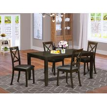 5 Pc Dining room set-Dining Table with Leaf and 4 Chairs for Dining room
