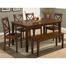 Simplicity Rect. Dining Table W/(4) Slatback Chairs