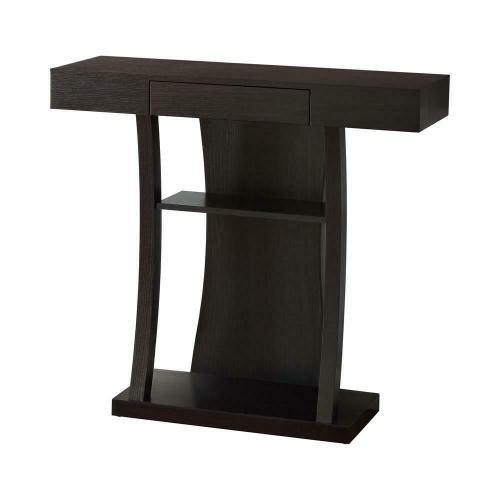 Gallery - Contemporary Cappuccino Console Table