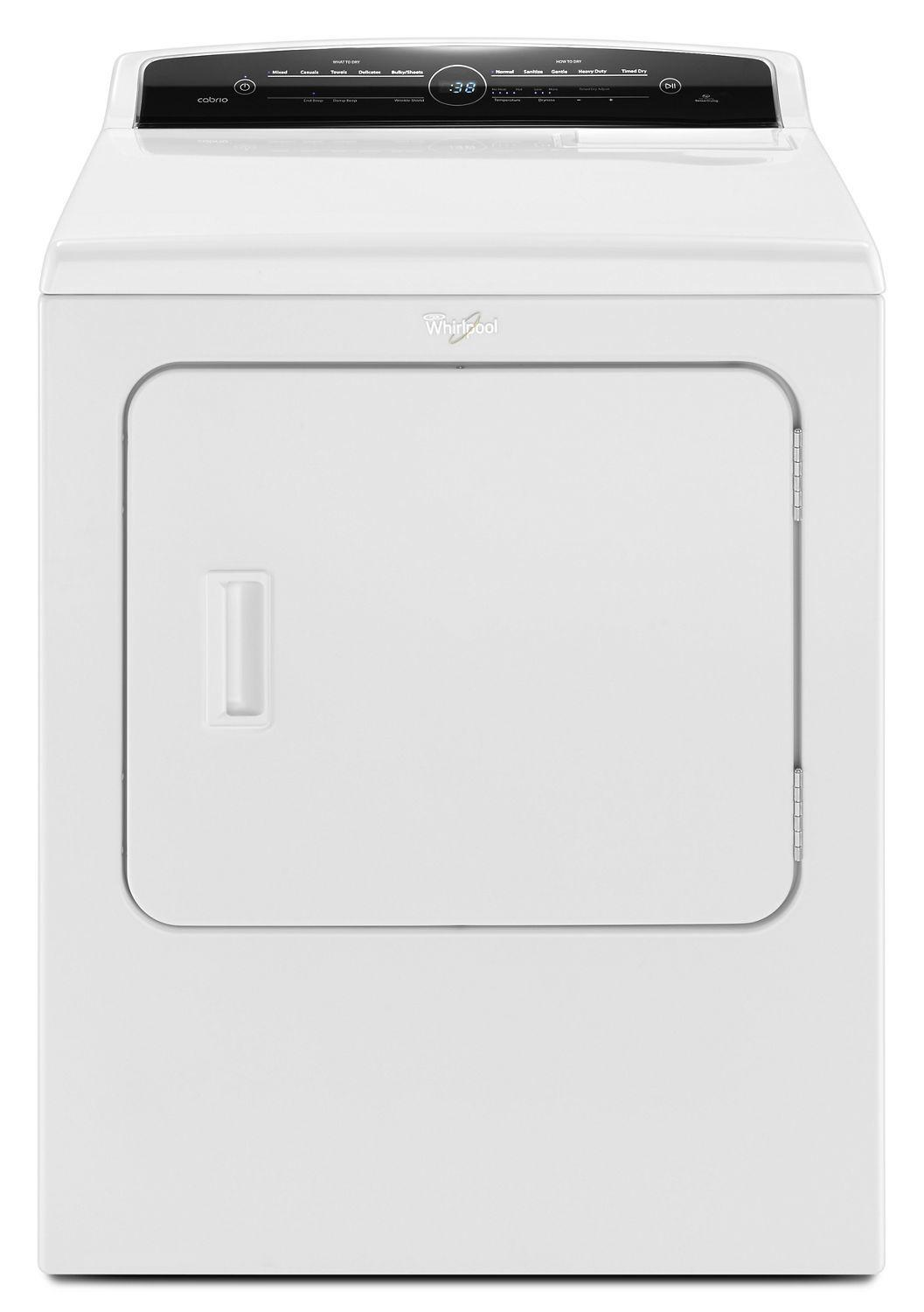 Whirlpool7.0 Cu.Ft Top Load He Gas Dryer With Advanced Moisture Sensing, Intuitive Touch Controls White