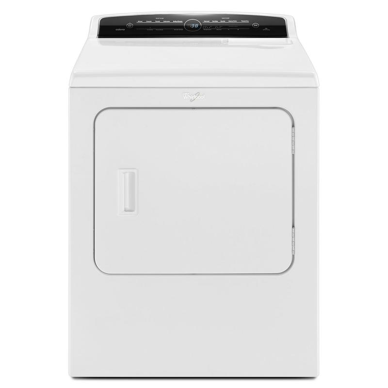 7.0 cu.ft Top Load HE Gas Dryer with Advanced Moisture Sensing, Intuitive Touch Controls White