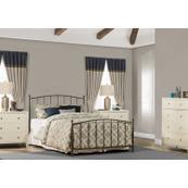 Warwick Queen Bed Set With Rails (gray Bronze)