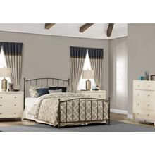 Warwick Queen Bed Set With Rails (gray Bronze)