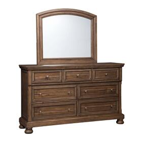 Flynnter Bedroom Mirror Medium Brown