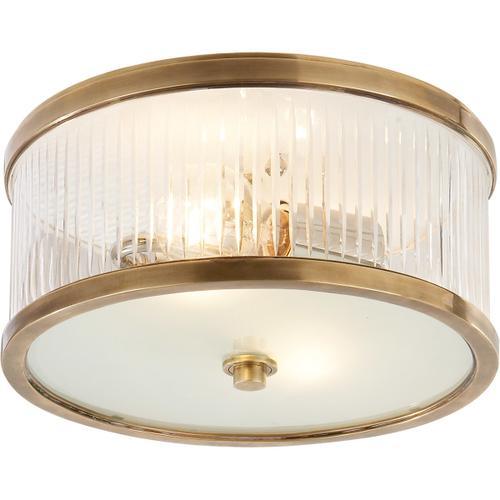 Alexa Hampton Randolph 2 Light 11 inch Hand-Rubbed Antique Brass Flush Mount Ceiling Light