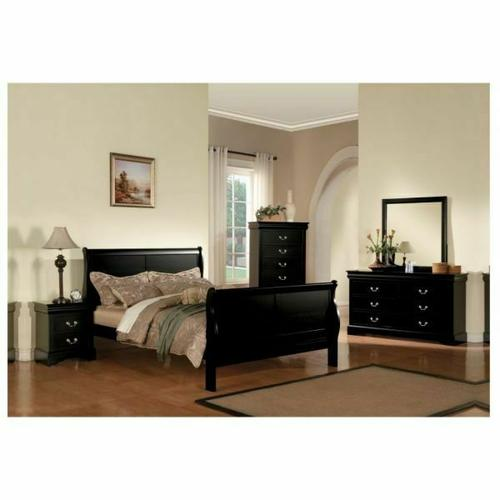 ACME Louis Philippe III Eastern King Bed - 19497EK - Black