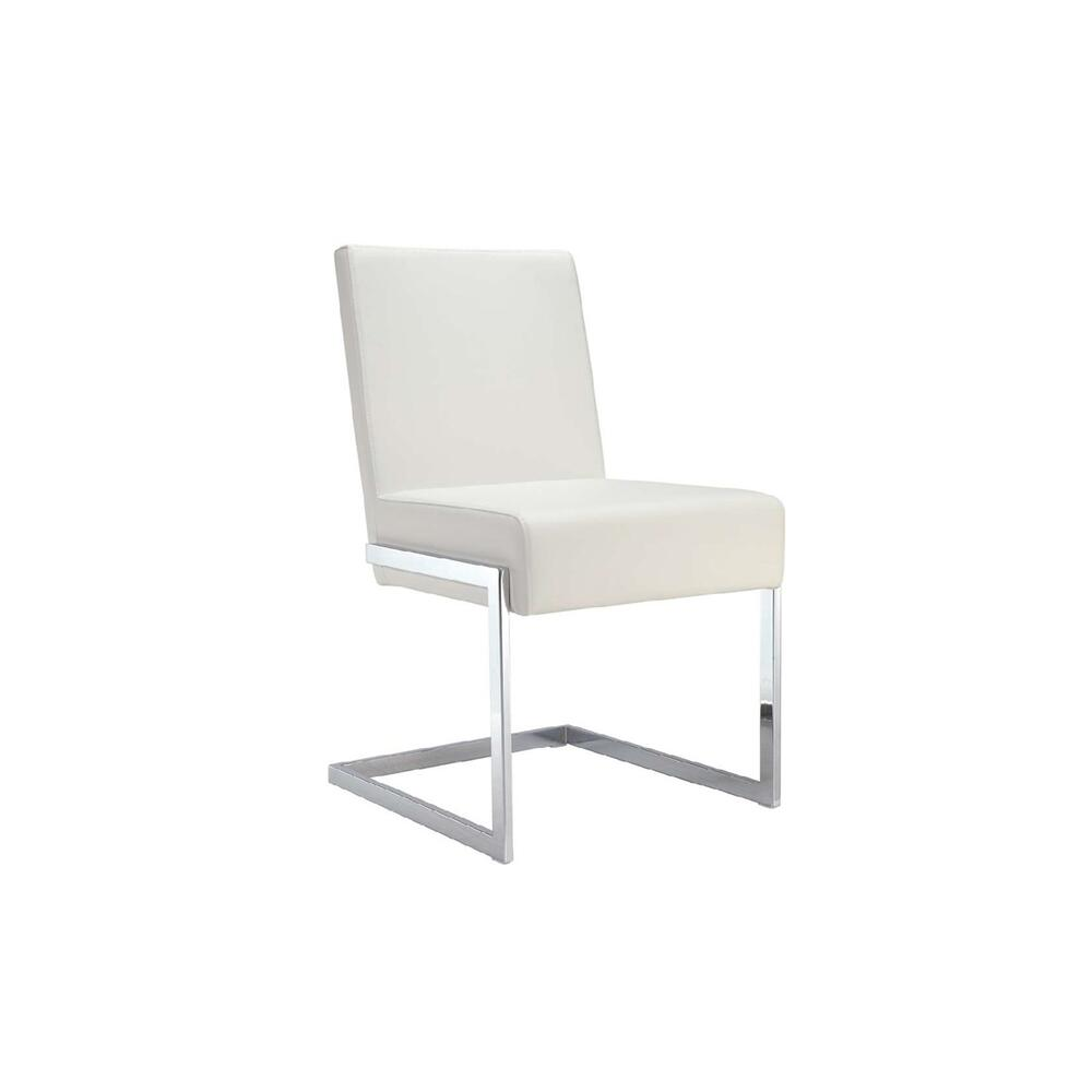 The Fontana White Eco-leather Dining Chairs