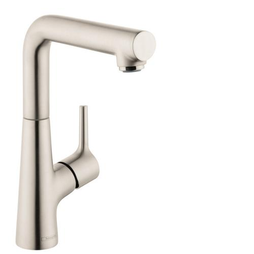 Brushed Nickel Single-Hole Faucet 210 with Swivel Spout and Pop-Up Drain, 1.2 GPM