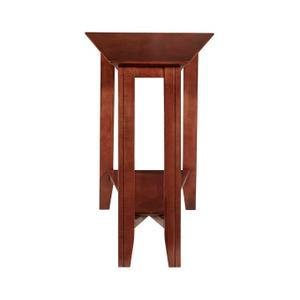 Eclectic Shelf Wedge Table