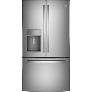 GEGE Profile™ Series ENERGY STAR® 22.1 Cu. Ft. Counter-Depth Fingerprint Resistant French-Door Refrigerator with Hands-Free AutoFill