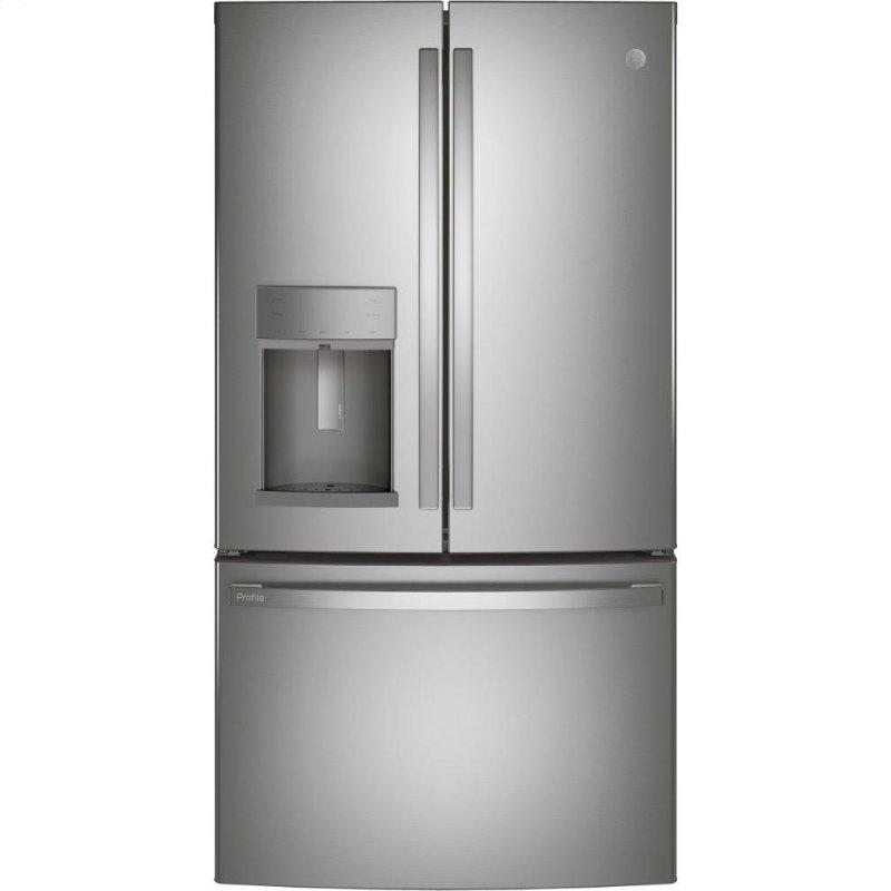 GE Profile(TM) Series ENERGY STAR(R) 22.1 Cu. Ft. Counter-Depth Fingerprint Resistant French-Door Refrigerator with Hands-Free AutoFill