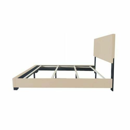 ACME Ireland III Queen Bed (Panel) - 24280Q - Beige PU