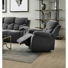 ACME Kalen Glider Recliner - 55442 - Contemporary - Chenille, Frame: Wood (Hemlock/Fir, Ply), Foam (D22), Metal Reclining Mechanism - Gray Chenille