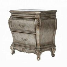 ACME Chantelle Nightstand w/Granite Top - 20543 - Antique Platinum