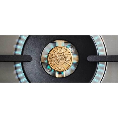 36 inch All Gas Range, 6 Brass Burners Matt Black