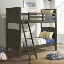 See Details - Tahoe Youth Twin over Twin Bunk Bed  River Rock