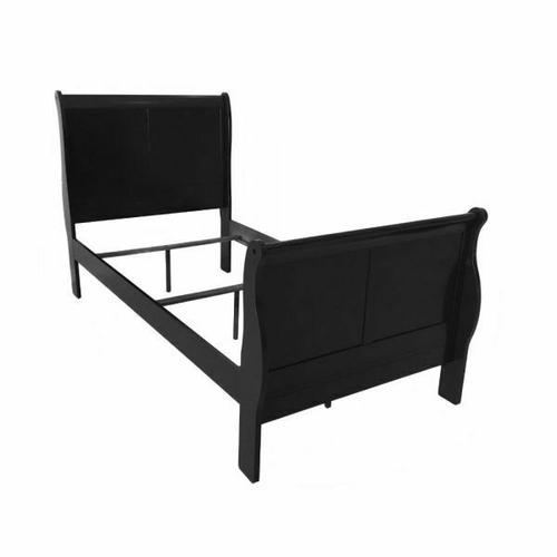 ACME Louis Philippe III Twin Bed - 19510T - Black