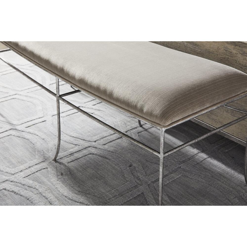 Cameron Bed End Bench - Raw Silk