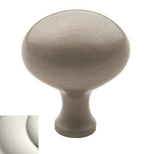 Baldwin - Polished Nickel Oval Knob