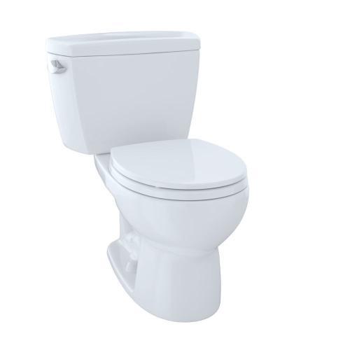 Drake® Two-Piece Toilet.1.6 GPF, Round Bowl - Cotton