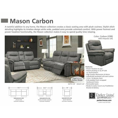 Parker House - MASON - CARBON Power Recliner
