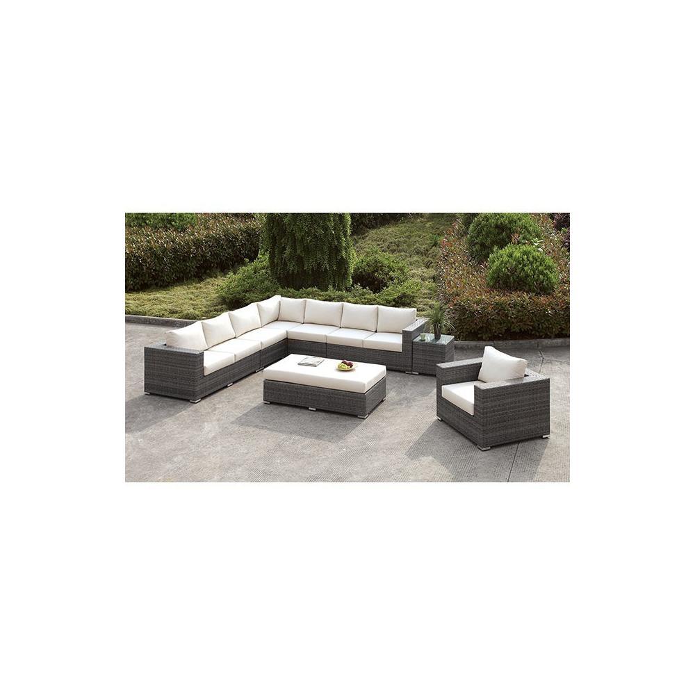 Somani L-Sectional + Chair + Ottoman