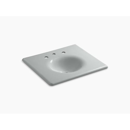 "Ice Grey 25"" Vanity-top Bathroom Sink With 8"" Widespread Faucet Holes"