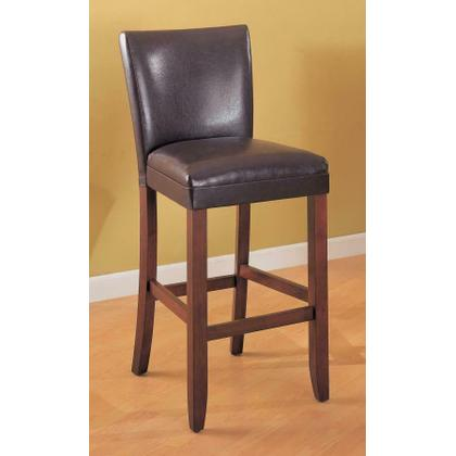 Telegraph Faux Leather Brown Counter-height Chair