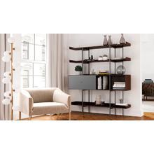 View Product - Margo 5201 Shelf in Toasted Walnut Fog Grey