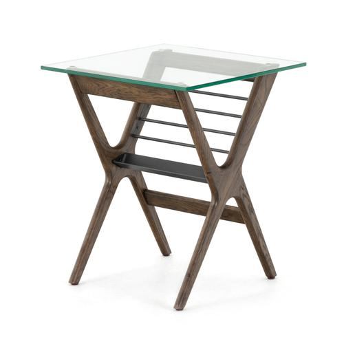 Subra End Table-dark Hazel