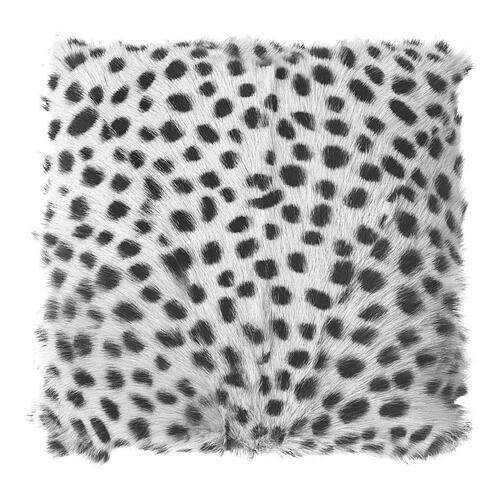 Moe's Home Collection - Spotted Goat Fur Pouf Light Grey