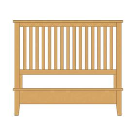 Slat Bed with Low Profile Footboard