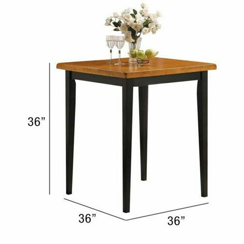 ACME Gaucho 5Pc Pack Counter Height Set - 07285 - Oak & Black